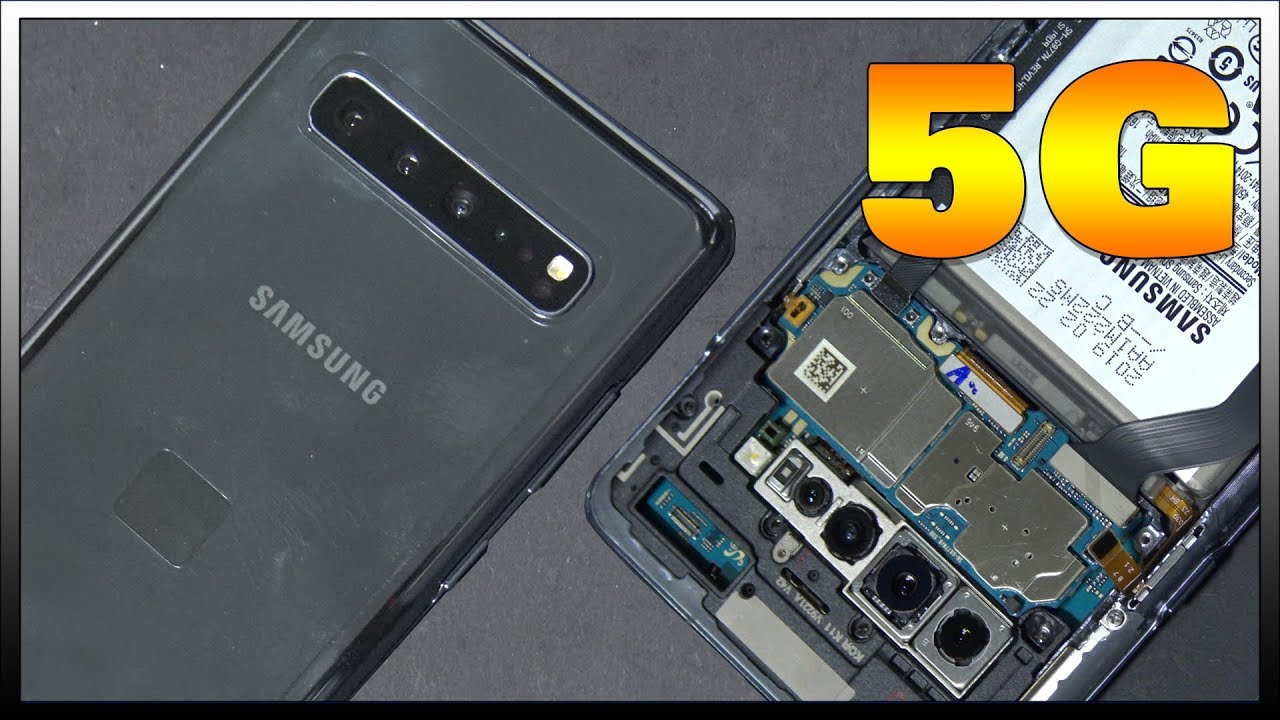 Samsung Galaxy S10 5G Disassembly Teardown Repair Guide. Mystery connector inside!