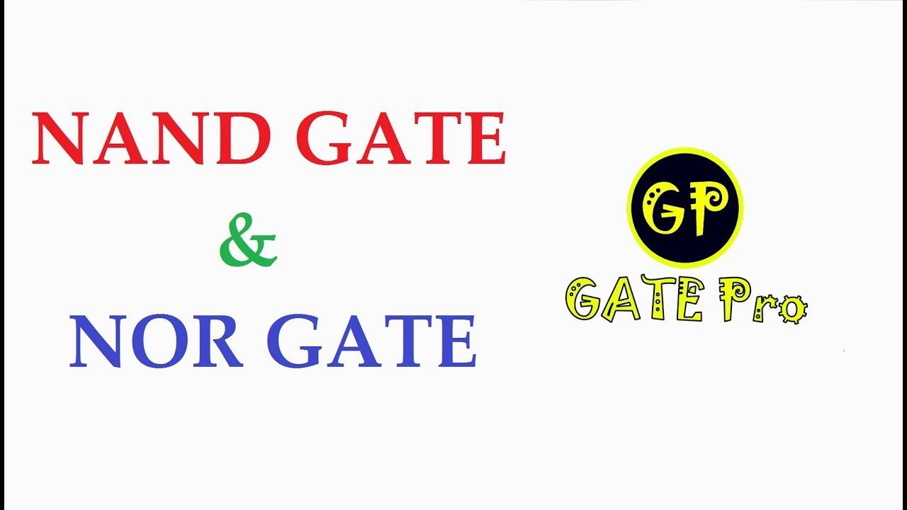 Logic Gates Nand Nor Digital Electronics Gate Ee Ec