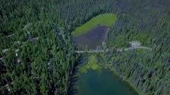 Carp, McLeod and Bear Lakes, Prince George, BC, Canada, July 2018 [Aerial 4k]