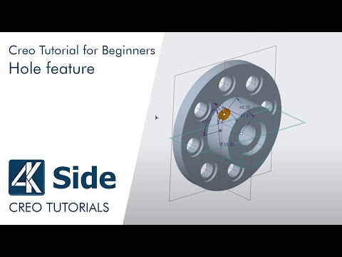 PTC Creo 4.0 tutorial: How to create Hole feature