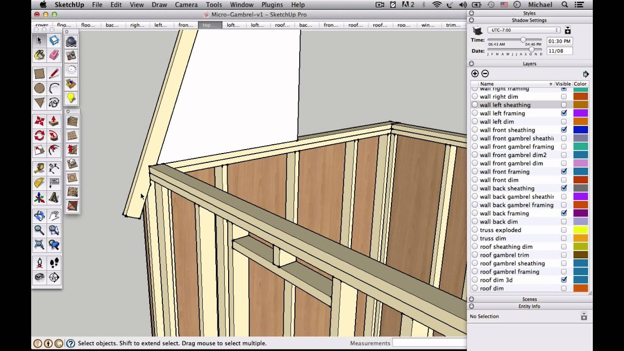 How to draw a gambrel roof in sketchup - How To Draw A Gambrel Roof In Sketchup 1