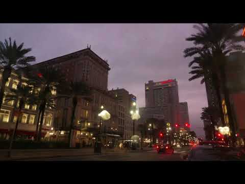 TIme-lapse video: Outer bands of Hurricane Nate hit Canal Street