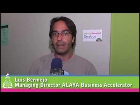 Luis Bermejo de ALAYA Business Accelerator en Startup Weekend Córdoba