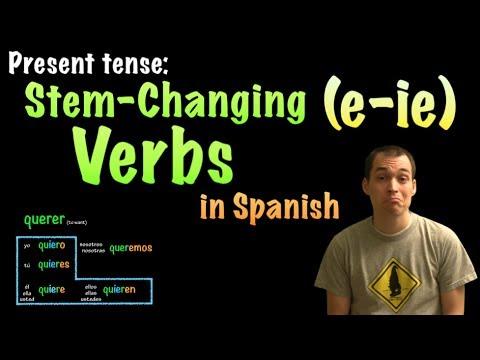 01065 Spanish Lesson - Present Tense - E-IE Stem-changing verbs