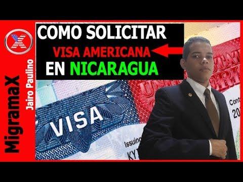 COMO SOLICITAR VISA AMERICANA EN NICARAGUA?