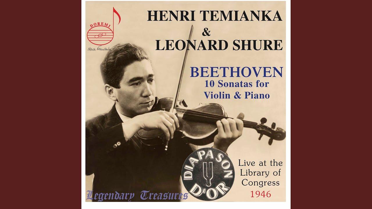 Violin Sonata No. 10 in G Major, Op. 96: I. Allegro moderato