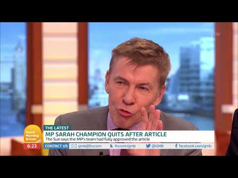 Sarah Champion MP Quits After Article | Good Morning Britain