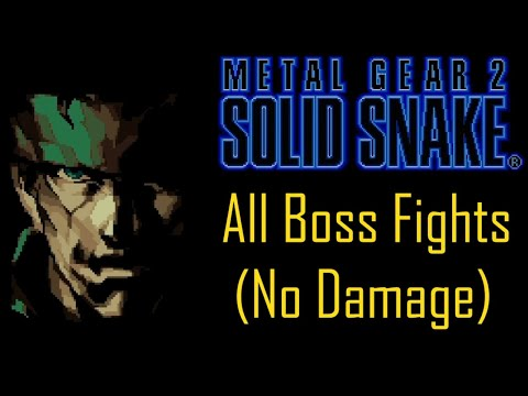 Metal Gear 2: Solid Snake - All Boss Fights (No Damage)