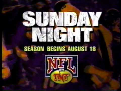 NFL on TNT, Sunday night football (promo, 1994)