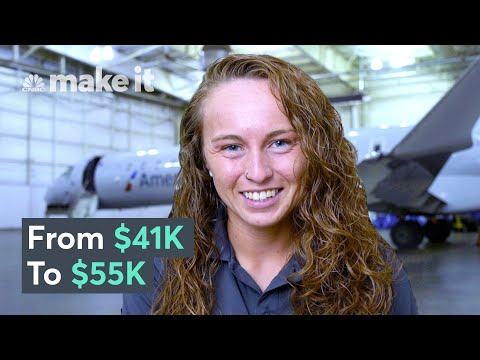 Making $55K A Year As An Aircraft Mechanic in Charlotte, NC | On The Job