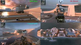 BO2: Back-to-Back 3v3v3 TDM Sessions -- Four-Way, Split-screen View