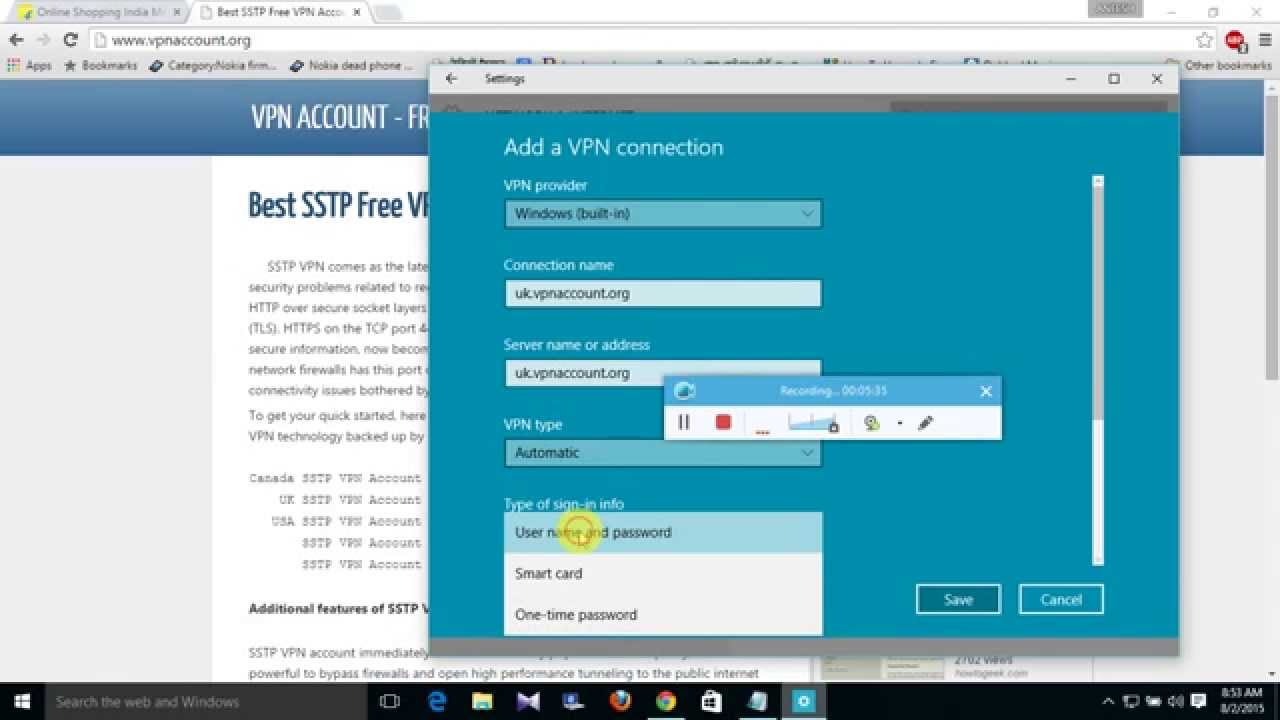 HOW TO ADD FREE VPN ON WINDOWS 10 EASY WAY - YouTube
