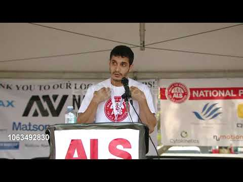 Elyes Gabel with Team Elyes at the 16th annual LA county walk to defeat ALS