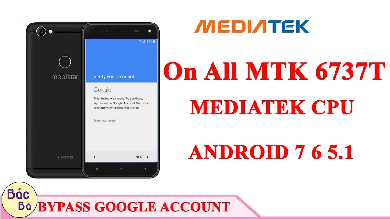 A New Way To Bypass Google Account On all MTK 6737T /MEDIATEK CPU Android  7,6,5 1