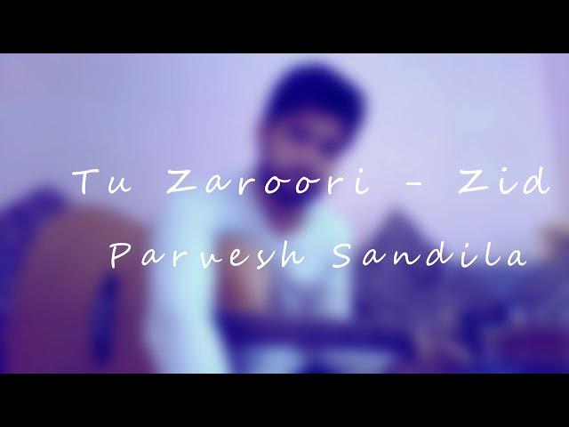 Tu Zaroori - Zid | Cover by Parvesh Sandila