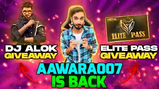Free Fire Live Dj Alok And Elite Pass Giveaways #Totalgaminglive​​ #aawara007