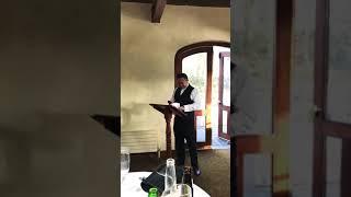 Best man speech, Wayne & Jen wedding March 10th 2018