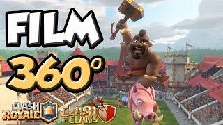 CLASH ROYALE / CLASH OF CLANS FILM EN 360° AVEC MA SOEUR !!!