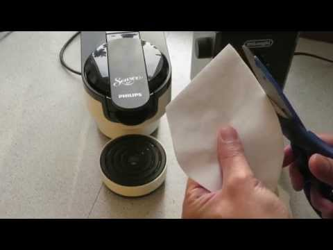 Home Made Senseo Coffee Pods Using Size 4 Coffee Filter, HD 7880 Machine