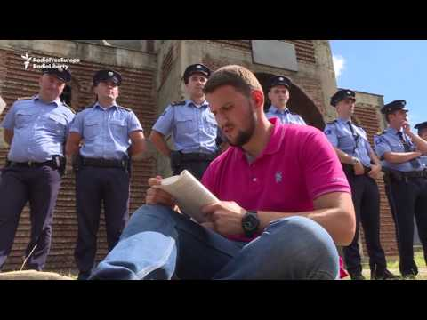 Kosovo Students Stage Sit-in Around Serb-built Orthodox Church