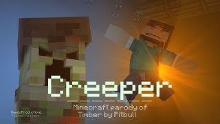♪CREEPER♪ - A Minecraft Parody of Pitbull - Timber (Music Video)