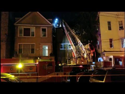 Jersey City NJ 2nd Alarm House Fire (Zabriskie St) W/Fd Audio 10-25-18