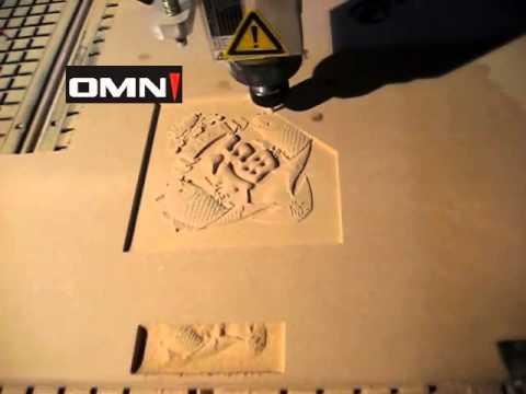 Jinan OMNI cnc engraving machine/router on wood
