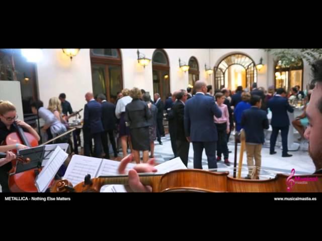 Real Casino de Murcia - Coctel boda - METALLICA - Nothing Else Matters Musical Mastia Wedding Murcia