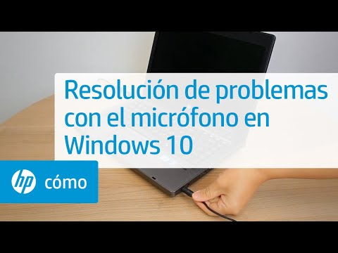 Resolución de problemas con el micrófono en Windows 10 | Equipos HP | HP