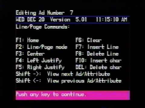 Electronic Program Guide in West Covina, CA on 12/20/89