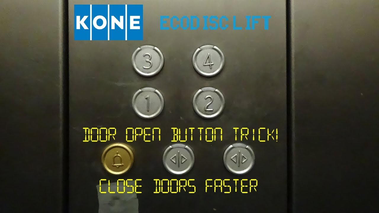 A KONE elevator door open button trick that can make the doors close faster