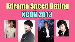 Kdrama Speed Dating at KCON 2013