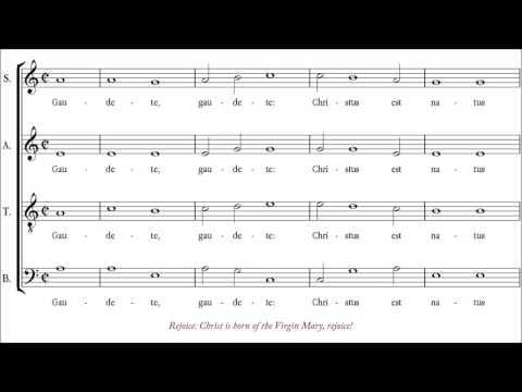 Anonymous | Gaudete, Christus est natus [á 4; Choir of The Queen's College, Oxford]