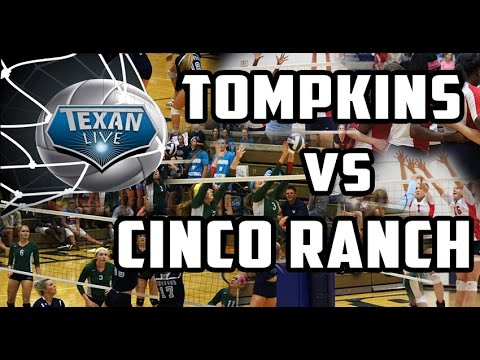 Tompkins vs Cinco Ranch Volleyball Full Game 10/13/2015