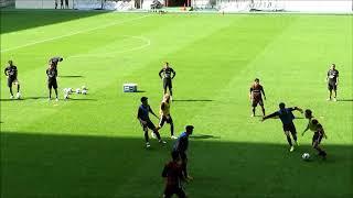 【神ワザ】イニエスタ(Iniesta)選手のパス精度が半端ないことが分かる練習 ヴィッセル神戸公開練習より