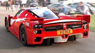 Road-legal  Ferrari FXX - LOUD revs and accelerations!