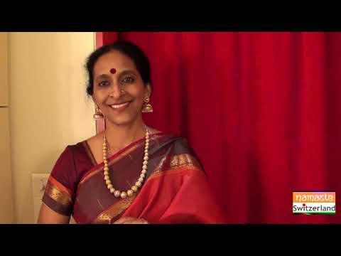 Bombay Jayashri talks to the viewers of Namaste Switzerland