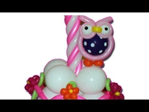 Curso de globos como hacer un buho en globos animales en - Hacer munecos con globos ...