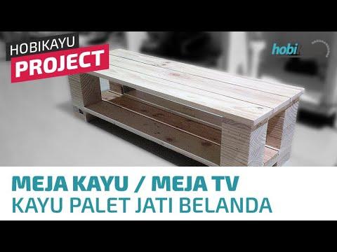 Buat Sendiri Meja Kayu/Meja TV Murah