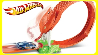 Hot Wheels Cobra Coil Play Set!  Knock Out The Cobra Snake!  Fun Hot Wheels Videos For Kids!