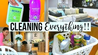 SPEED CLEAN WITH ME 2017 | CLEANING MY ENTIRE HOUSE | Page Danielle