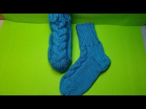 Детские вязаные носки спицами. МК для Начинающих носки спицами +для детей