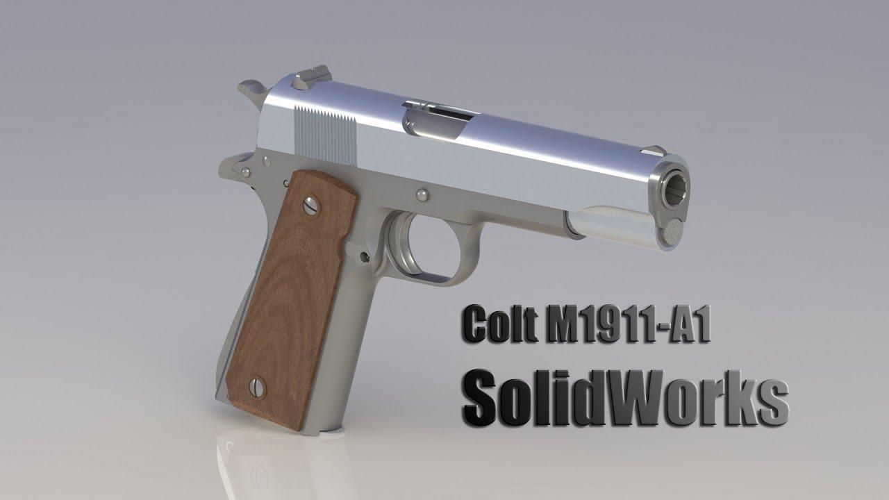 Colt M1911-A1 Redux - Solidworks