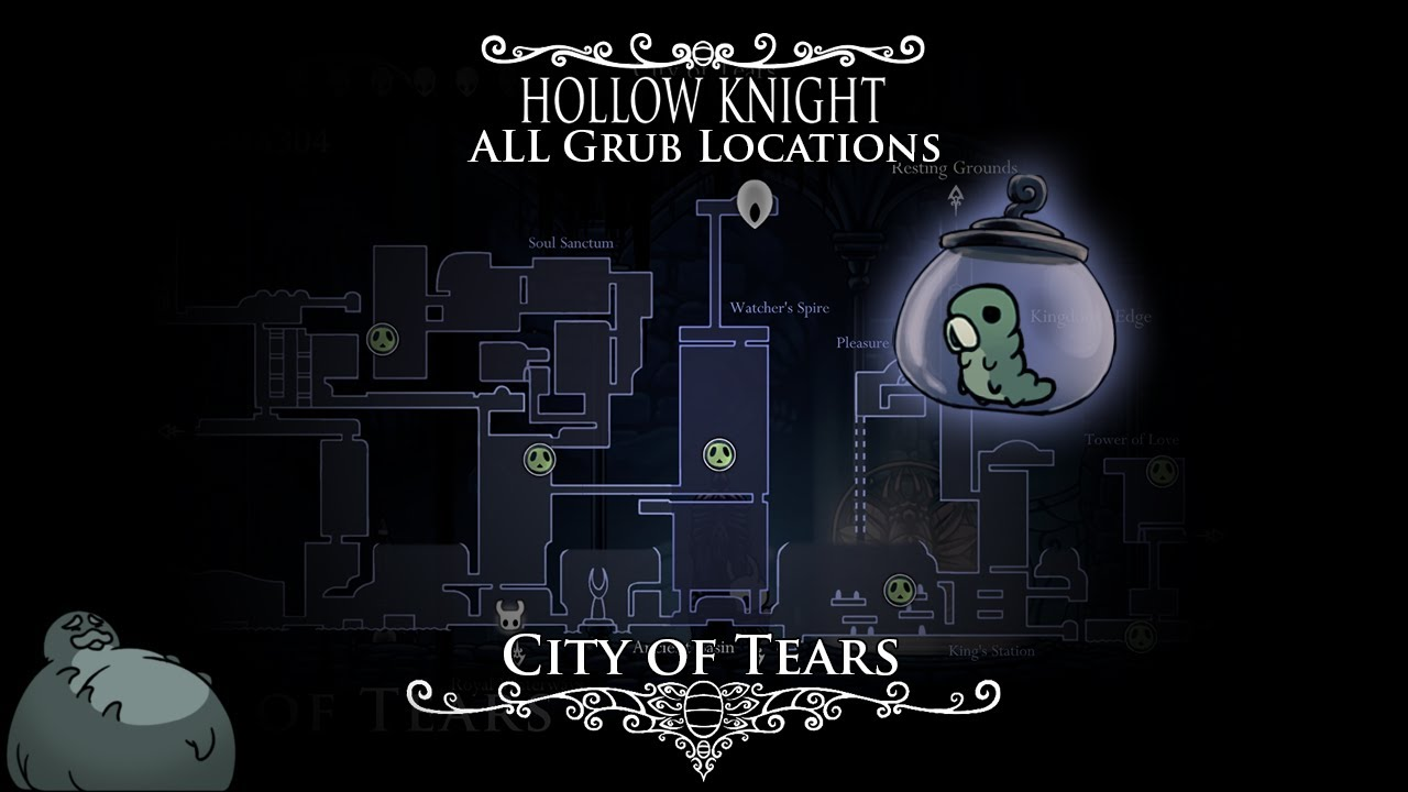 Hollow Knight Resting Grounds Map