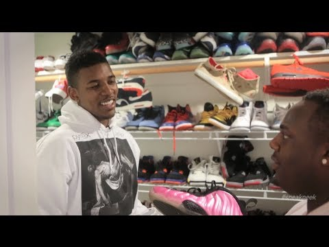 """Nick Young's Shoe Collection A """"Sneak Peek"""" In Swaggy P's Sneaker Closet"""