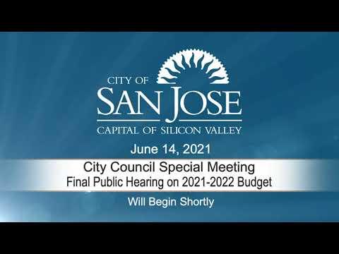JUN 14, 2021 | City Council Special Meeting – Final Public Budget Hearing