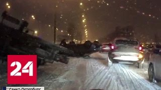 Снежный апокалипсис идет из Питера в Москву