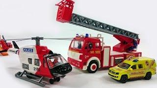 Das Rettungsteam kommt zu Hilfe. Der Wolkenkratzer brennt! Video