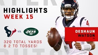 Deshaun Watson's Double-TD Day in Victory Over Jets!