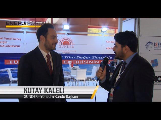 GÜNDER - Kutay Kaleli - Solarex 2019 Enerjiportali Röportajı
